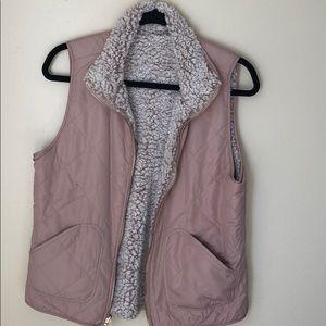 Reversible Blush Sherpa Vest